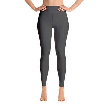 Solid Charcoal Gray Yoga Leggings