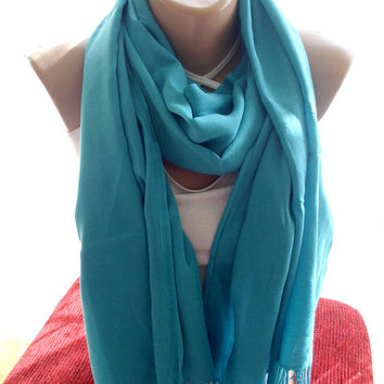 Turquoise pashmina scarf unisex scarves scarf women shawl blue scarf winter scarf winter shawl blue shawl accessories gift ideas