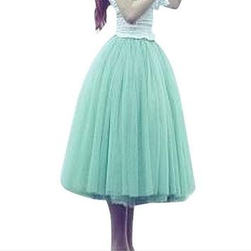VOND4H ABC Beauty Lace Women Tutu skirt Girl Bubble Skirt Princes Fairy 5 layered Tulle Skirt  Bouffant Mesh Tutu Skirt