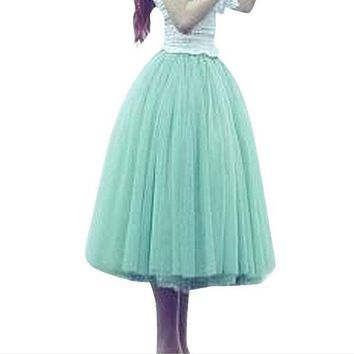 DCCKUN6 ABC Beauty Lace Women Tutu skirt Girl Bubble Skirt Princes Fairy 5 layered Tulle Skirt  Bouffant Mesh Tutu Skirt