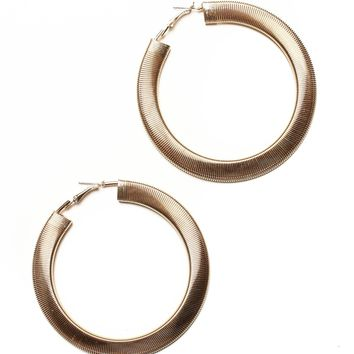 Wrapped Statement Hoops - Gold