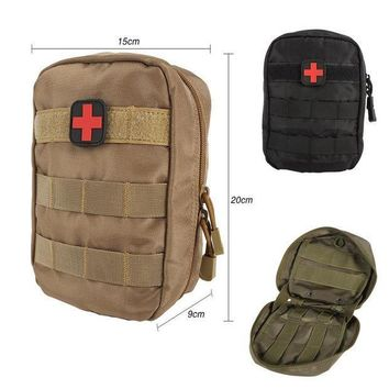 ICIKUH3 Tactical Medical First Aid Kit Bag Molle Medical EMT Cover Outdoor Emergency Military Package Outdoor Travel Hunting Utility New