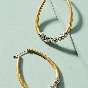 Chain-Wrapped Hoop Earrings