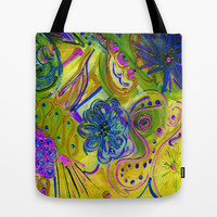 Lucky Wishbone Tote Bag by RokinRonda