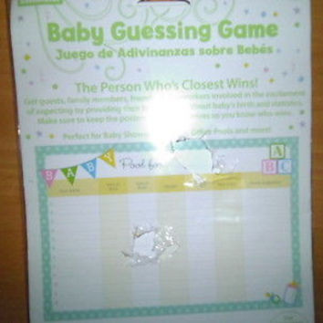 CELEBRATE! BABY GUESSING GAME;BABY SHOWERS,FAMILIES,OFFICE POOLS,ETC.;NEW