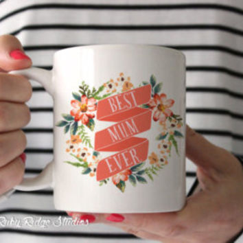 Funny Motivational Quote Mug, Making Shit Happen, Floral Quote Mug, Ceramic Mug, Painted Floral Mug, Tea Cup, Under 50
