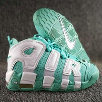 Nike Air More Uptempo Fashion Casual Running Sports Shoes Green/White G