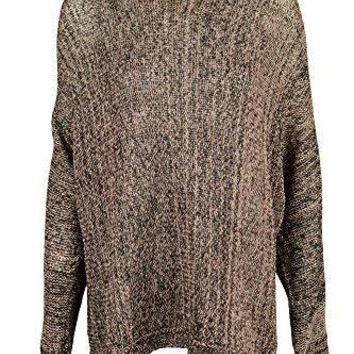 INC International Concepts Plus Long Sleeve Open Knit Sweater