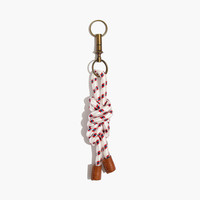 Large Knotted Rope Keychain
