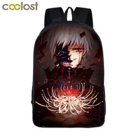 Anime Tokyo Ghoul Backpack For Teenage Girls Boys Children School Bags Cartoon Tokyo Ghoul Kaneki Ken Bag Kids School Backpacks