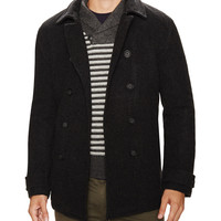 Wool Double Breasted Peacoat