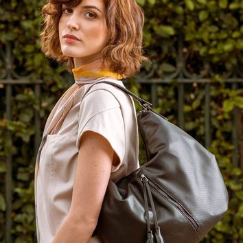Savona-Perforated Leather Hobo Shoulder Bag