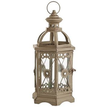 Jewel Hexagon Lantern - Gray Small