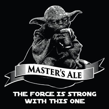 Star Wars Yoda Master's Ale Vintage Black Tank Top Star Wars Beer Tank Top