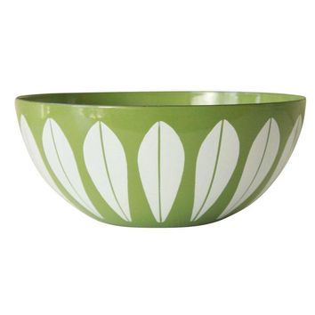 Pre-owned Cathrineholm Green Enamelware Bowl