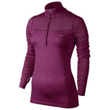Nike Dri-FIT Knit Long Sleeve 1/2 Zip Top - Women's at Lady Foot Locker