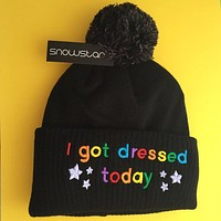 I Got Dressed Today - Beanie Bobble Hat