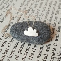 Supermarket: lucky happy cloud necklace in sterling silver, handmade in England from Huiyi Tan Handmade Designer Jewelry