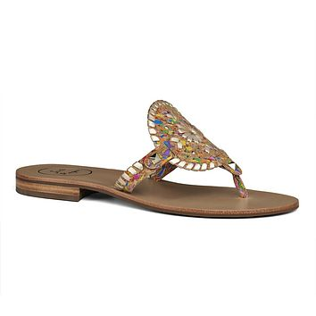 Georgica Sandal in Multicork & Platinum by Jack Rogers