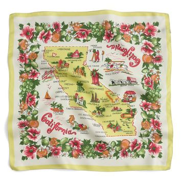 J.Crew California Map Silk Scarf | Nordstrom