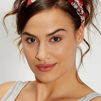 bandana in red floral and paisley print | maurices
