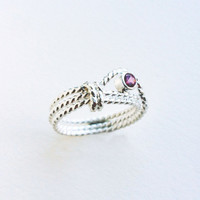 Limited Edition - Captured Love in Lassoed Rope Ring