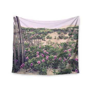 "Ann Barnes ""Morning at the Beach"" Flowers Wall Tapestry"