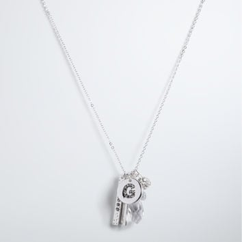 """G"" Initial Charm Necklace"