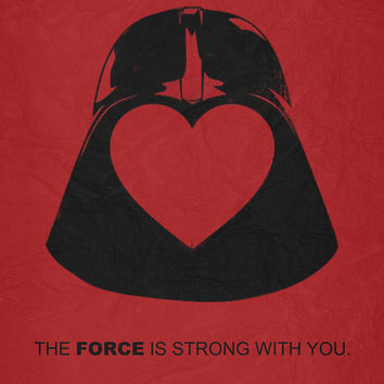 Star Wars - Valentine Poster Canvas Print by Misery
