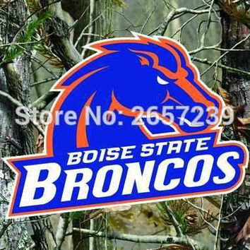 Boise State Broncos Real Tree Camo Flag 3x5FT NCAA banner 100D 150X90CM Polyester brass grommets custom66