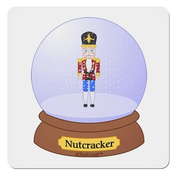 "Nutcracker Snow Globe - Red Gold Black 4x4"" Square Sticker by TooLoud"