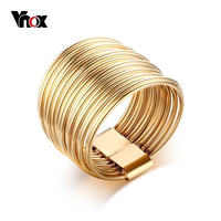 Fashion Wrap Ring Gold Plated Women Multi Rings Fashion Jewelry Titanium Steel Party Rings