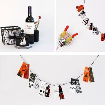 The Nightmare Before Halloween 120pcs paper labels packaging party gift decoration tags Scrapbooking Craft Paper DIY