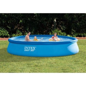 15 x 33 Above-Ground Easy Setup Outdoor Swimming Pool Set with Filter