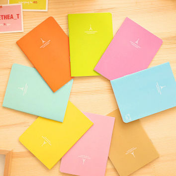 1PCS South Korean candy colors A6 Notebook Diary Book Exercise Composition Notepad Escolar Papelaria Gift Stationery
