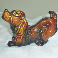 "Spaniel Dog Figurine SylvaC 3177 England Brown 6.5"" long Play Bow"