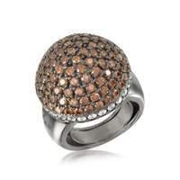 Azhar Designer Rings Sterling Silver Cubic Zirconia Semi-Sphere Cocktail Ring