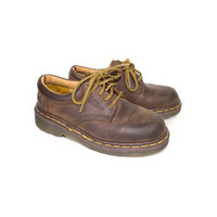 2 UK | 90s DR MARTENS Made in England brown leather oxford shoes - vintage 1990s docs - chunky oxfords - 5 eye lace - size 2 uk 4 us