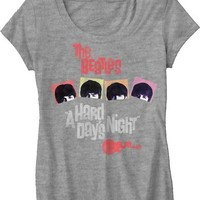 Beatles A Hard Days Night JUNIORS Shirt -- Size Small skinny fit