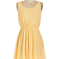 Kling Pastel Mid-length Sleeveless A-line Ray of Delight Dress