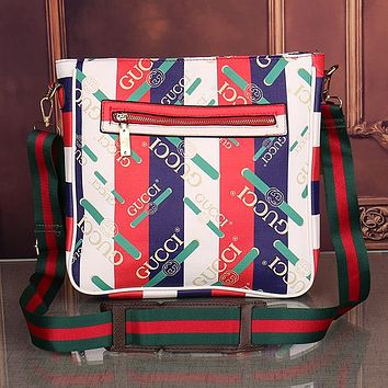 GUCCI Men Fashion Leather Office Bag Crossbody Shoulder Bag