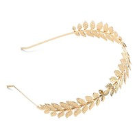 Candie's Metal Leaf Headband (Yellow)
