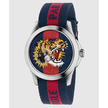 GUCCI bee or tiger icon, fashion, hot sale watch L-PS-XSDZBSH Blue and red(tiger)