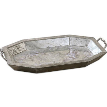 Uttermost Mirte Antiqued Glass Tray - 19904