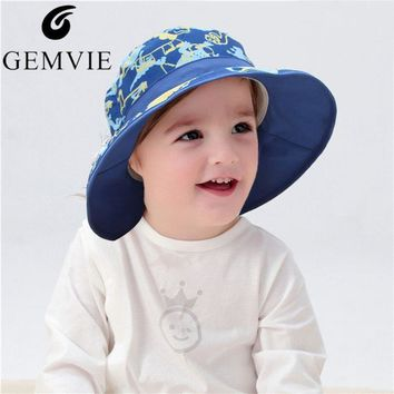 Fashion Printed Children Bucket Hats Street Hip Hop Wide Brim Sun Cap For Baby Kids Sunscreen Fisherman Bob Cap Panama Hat
