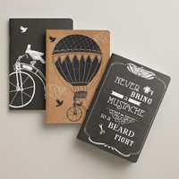 Parisian Steampunk Kraft Journals, 3-Pack - World Market