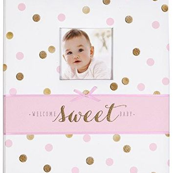 Pink and Gold Polka Dot My First Years Bound Memory Book for Baby Girls