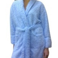Furry Robe in Blue