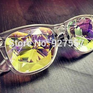 2016 new design clear frame  frame kaleidoscope glasses
