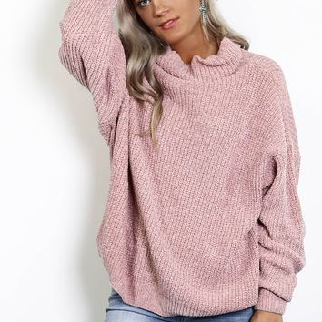 Can't Bring Me Down Mauve Sweater